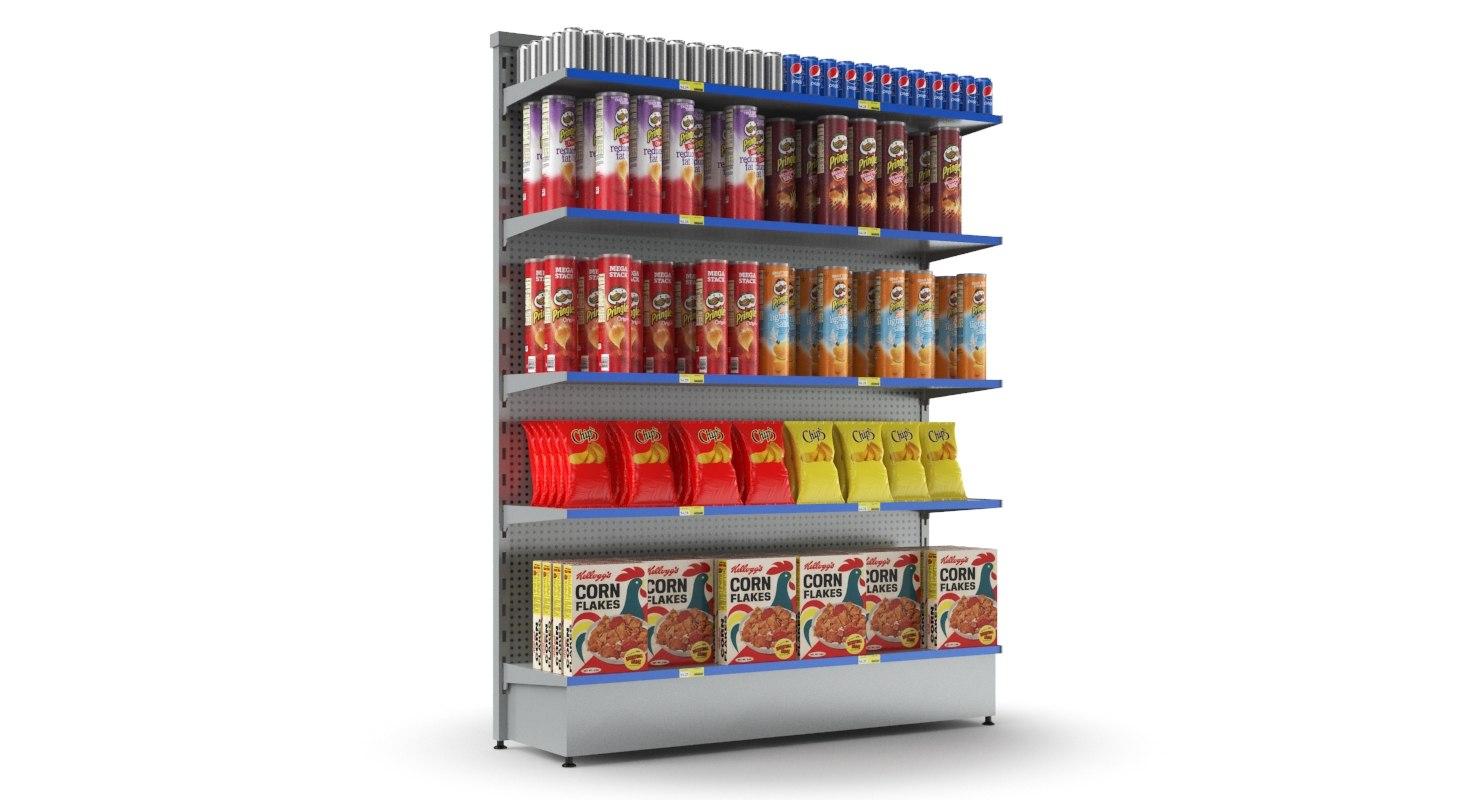 3D supermarket display