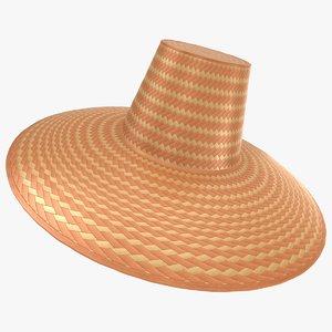 straw hat 02 3D model