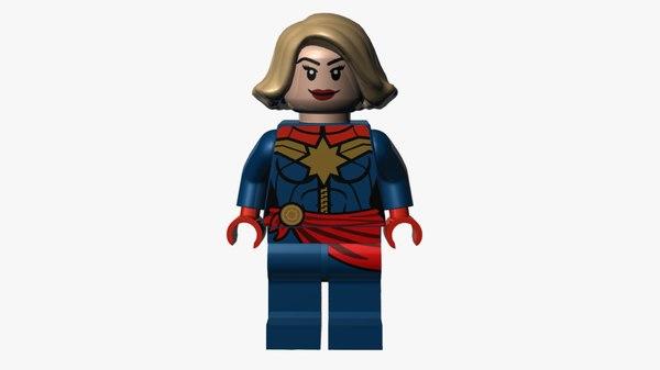 3D lego captain marvel