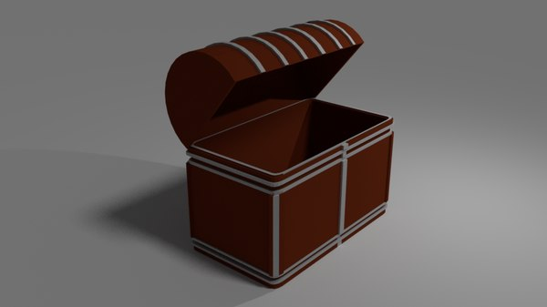 medieval chest coffre model