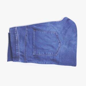3D folded jeans model