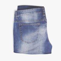 3D model folded jeans