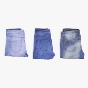 folded jeans set 3D