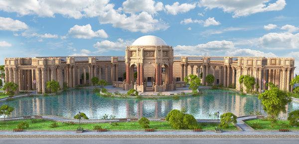 3D palace fine arts model