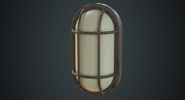 3D model bulkhead light 1c