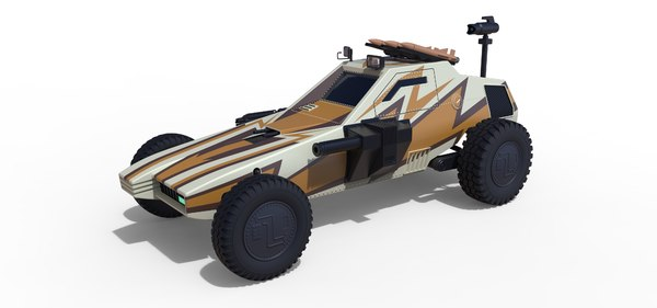 3D model megaforce 1982 dune buggy