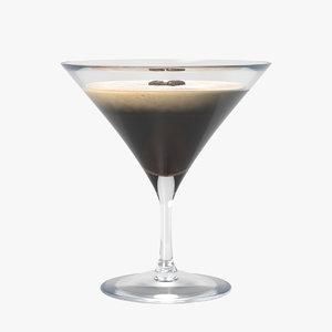 3D espresso martini