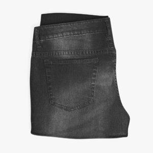 3D dark pants model