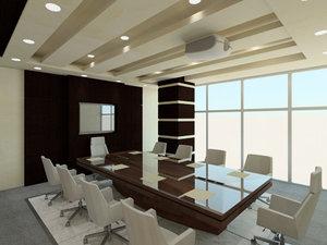 revit designed meeting room 3D model