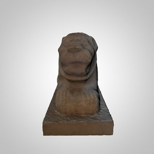 stone statue 3D