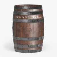games wooden barrel polys 3D