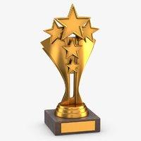 gold trophy 5 3D model