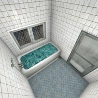 realistic bathroom 3D model
