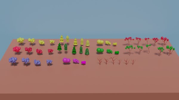 47 assets trees 3D model