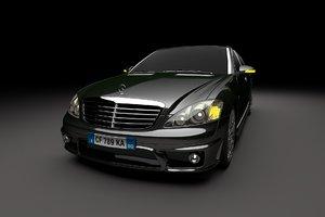 3D mercedes s65 model