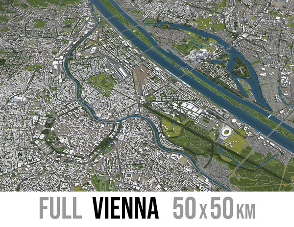 3D vienna area urban