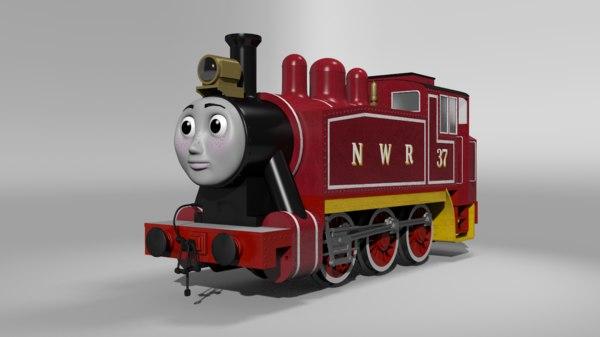 3D rosie train cartoon model