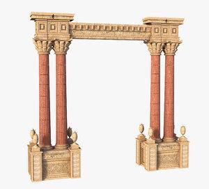 3D model column classic arch