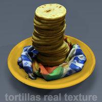 tortilla mexico food 3D model