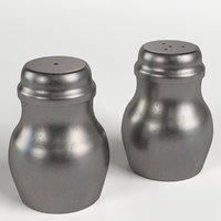 salt pepper pewder containers 3D model