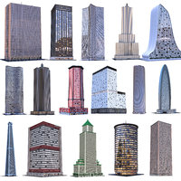3D model skyscraper building architecture