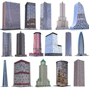 3D model skyscraper building architecture