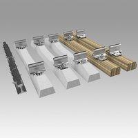 Rail fastening
