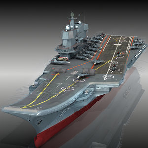 chinese aircraft carrier cv-17 3D model