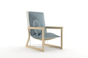 3D easy chair model