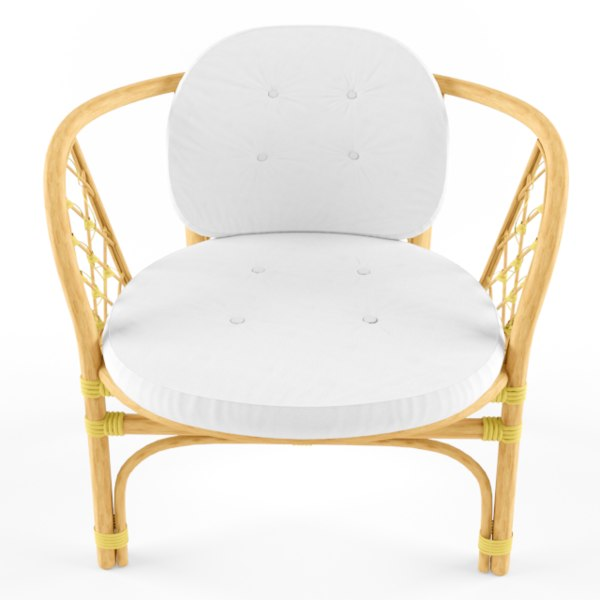 3D model wicker armchair