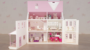 3D dollhouse house doll model