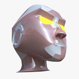 3D model robot head