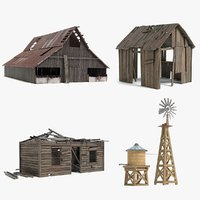 rustic farm sets model