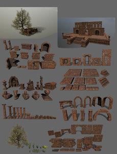 3D cesare fountain nefertiti model