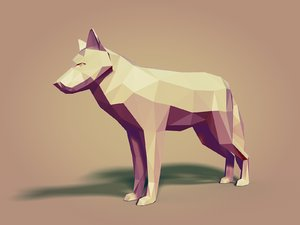 cartoon wolfs ar 3D model