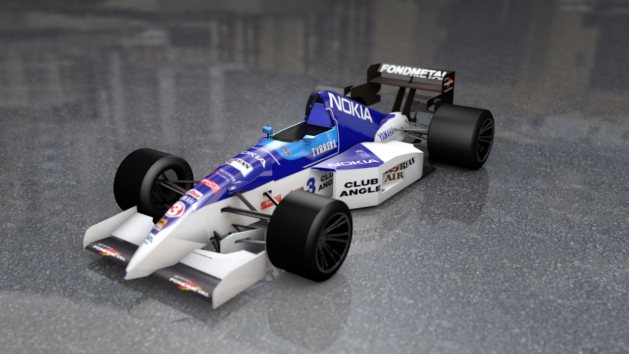 f1 tyrrell team race car 3D