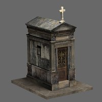 Old Weathered Mausoleum