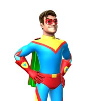Rigged Cartoon Male Superhero