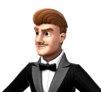Rigged Cartoon Male in Tuxedo