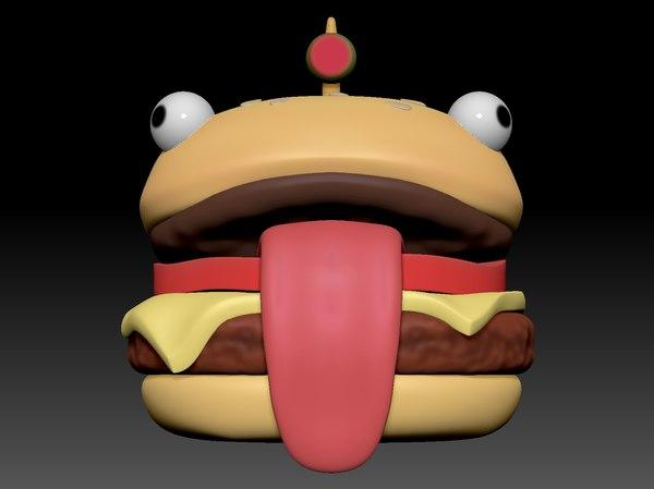 3D hamburger head helmet