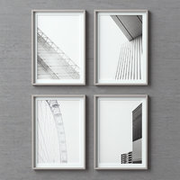 3D model picture frames set -90