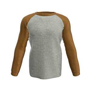 raglan t-shirt long sleeve 3D model