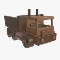 3D wooden truck