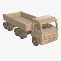 wooden truck 3D