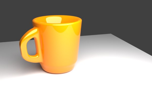 3D model simple cup