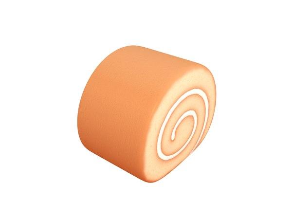 3D cake roll model