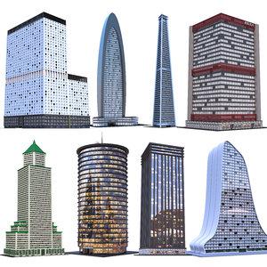 3D skyscraper building architecture