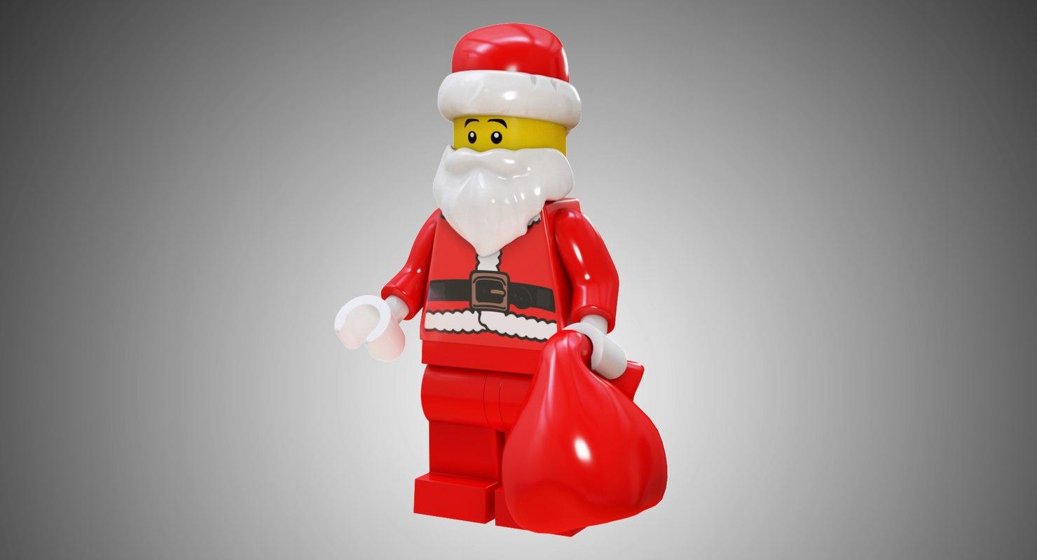 3D model lego santa -