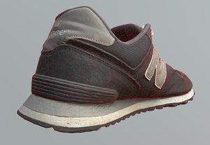 old sneakers scanned 3D model
