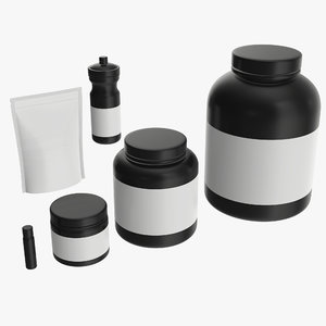 mockup nutrition container 3D